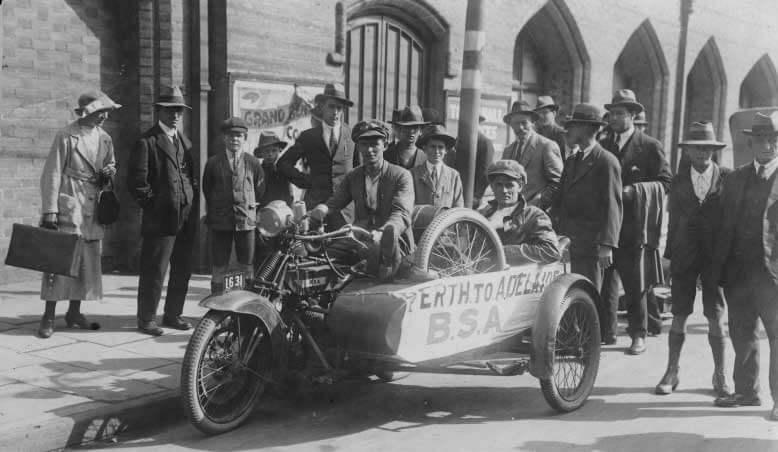 First motorcycle around Australia