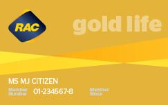 Gold life membership card