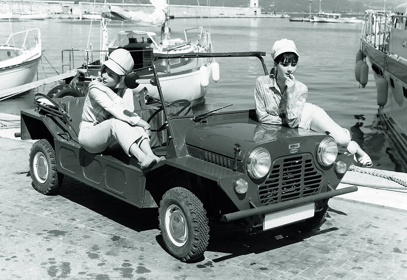 Mini Moke - An off-road passenger car, the Moke was fun, cheap to run and easy to manoeuvre. The ultimate sun-loving run-around.