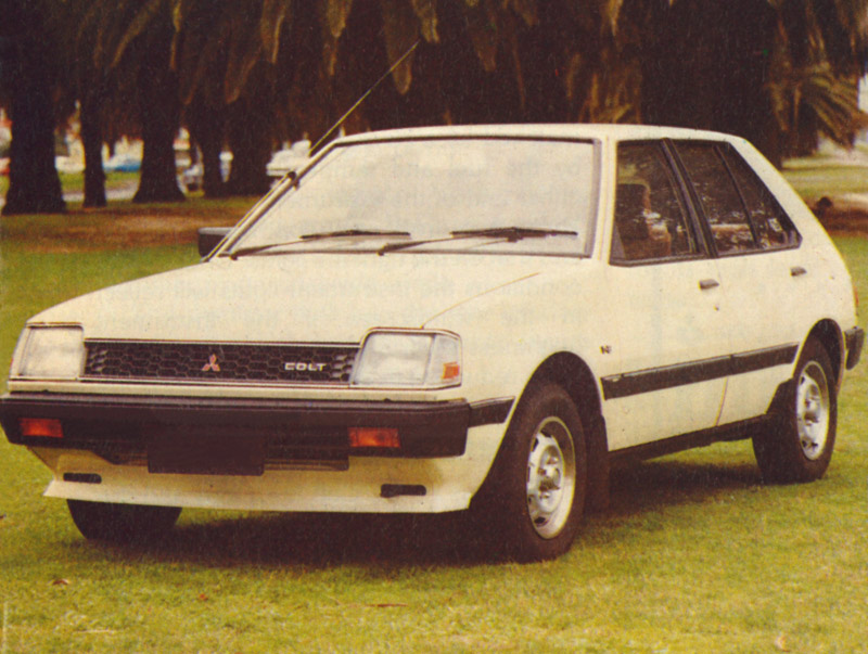"Mitsubishi Colt  - One of the Colt's distinguishing features was its ""Super Shift"" transmission, which added high and low range gearing, effectively turning the four-speed manual into an eight-speed."