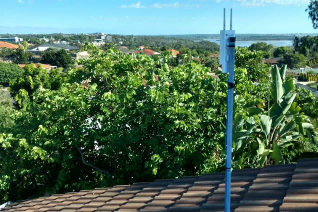 A residential LoRa gateway on a rooftop in Perth
