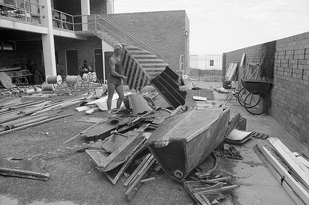 Cyclone Alby caused extensive damage to Cottesloe Surf Lifesaving Club