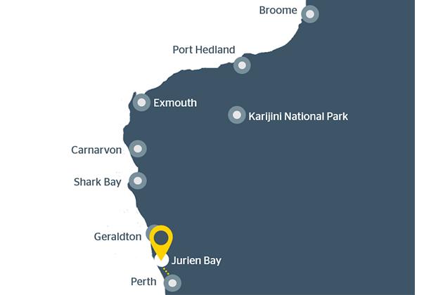 Map of Jurien Bay