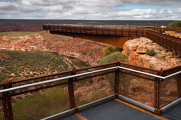View over gorges from the Kalbarri Skywalk