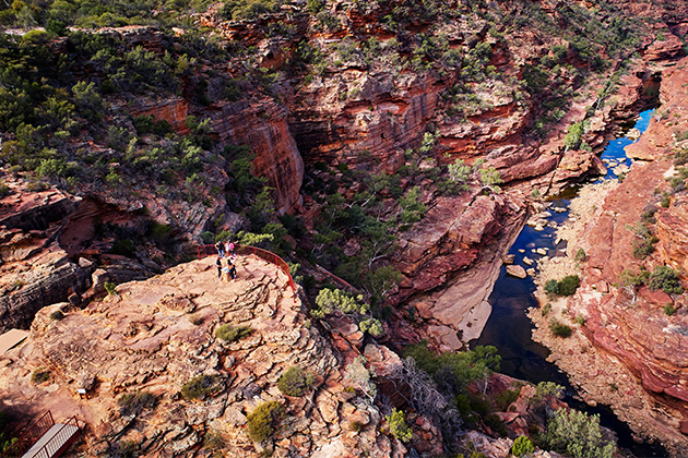 The Z Bend lookout in Kalbarri National Park