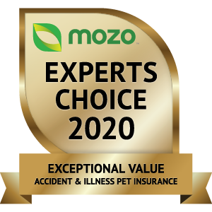 Mozo Award exceptional value accident illness pet insurance