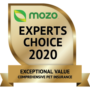 Mozo Award exceptional value comprehensive pet insurance
