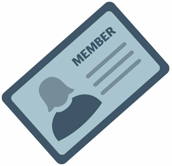 An illustration of an RAC membership card