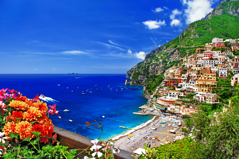 Coast line in Positano